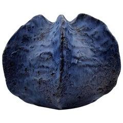 Helge Østerberg/Osterberg, Organic Vase of Blue Glazed Burned Chamotte Clay