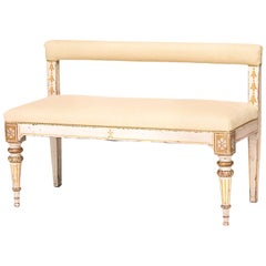 Danish Empire Painted and Parcel-Gilt Settee, circa 1810
