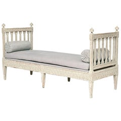 Swedish Late Gustavian Painted Bench, circa 1790-1800