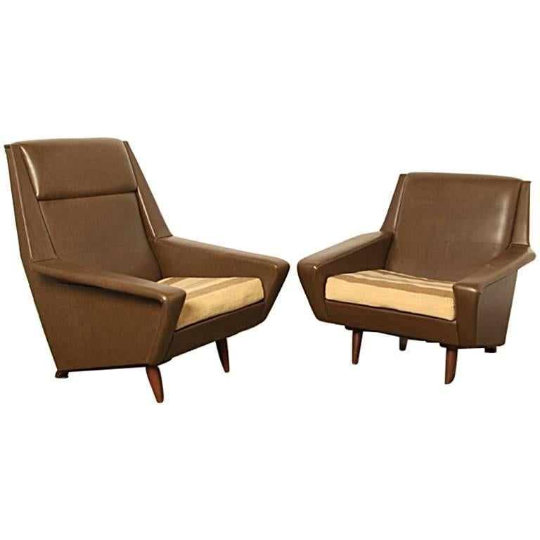 Pair Of Vintage Scandinavian Modern Lounge Chairs In The Style Of Folke Ohlsson For Sale At 1stdibs