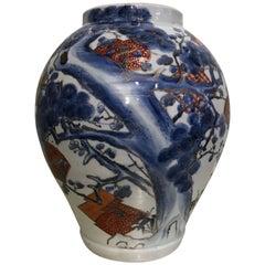 Large Japanese Arita Jar