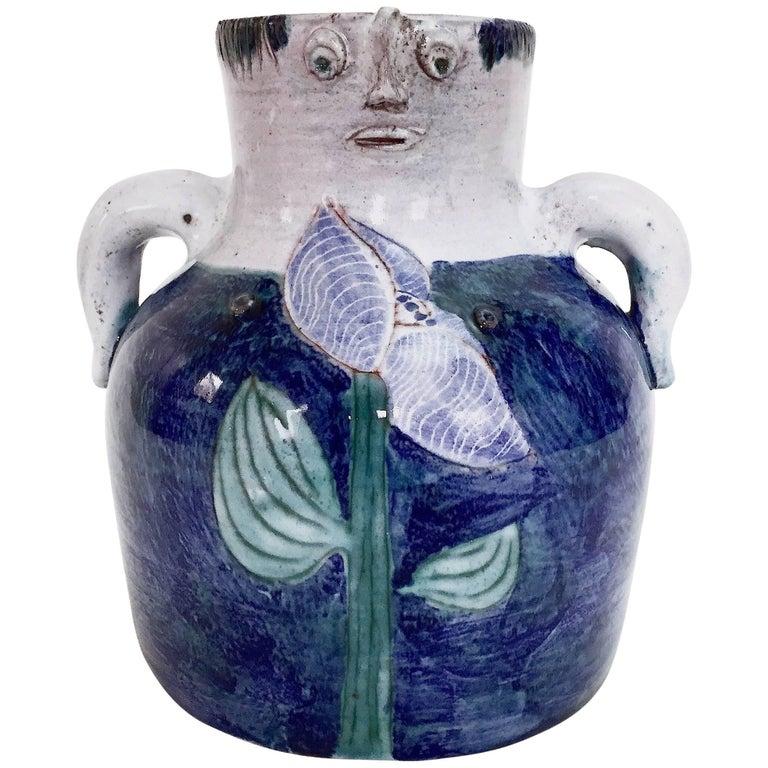 Robert and Jean Cloutier, Figurative Ceramic Vase