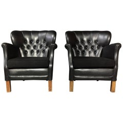 Pair of Danish Club Chairs by Oskar Hansen, Early 1940s