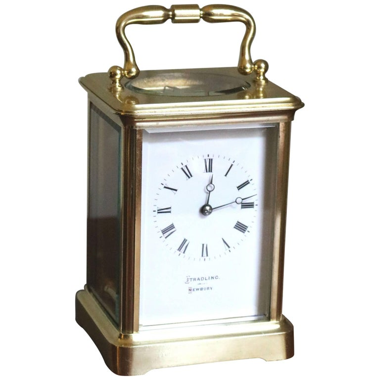 Large Timepiece Brass Carriage Clock