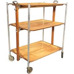 Late 1940s French Folding Bar Cart, Textable Paris