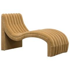 SACHA CHAISE - Modern Chaise Lounge in Mohair