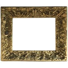 Rare Vintage Gold Colored Collecting Fine Art Mirror or Picture Frame