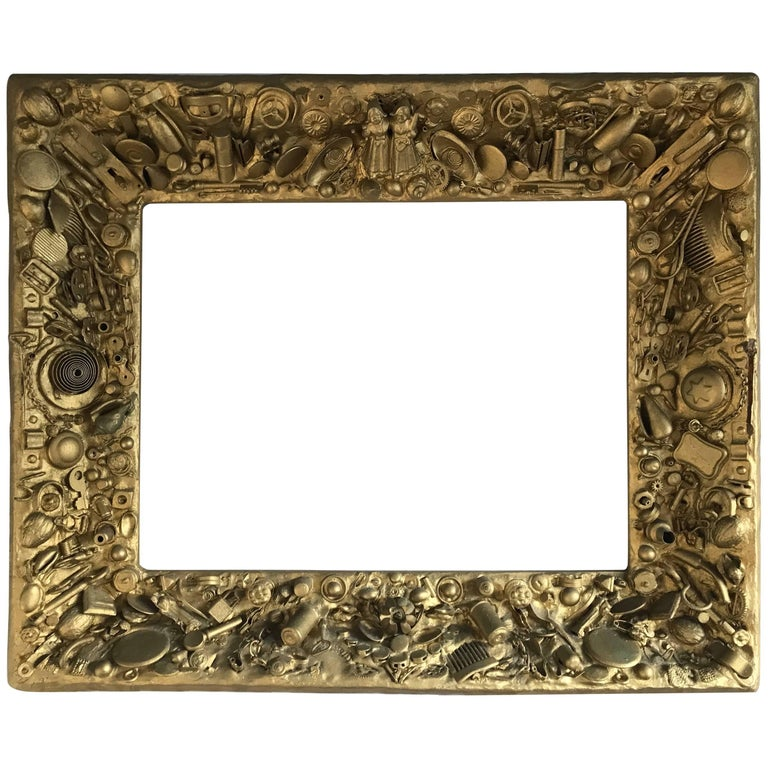Rare Vintage Gold Colored Collecting Fine Art Mirror or Picture ...