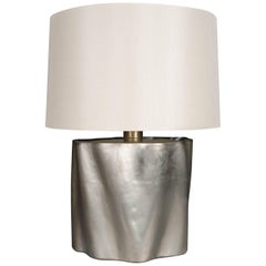 Root Design Table Lamp, White Bronze by Robert Kuo, Limited Edition, in Stock