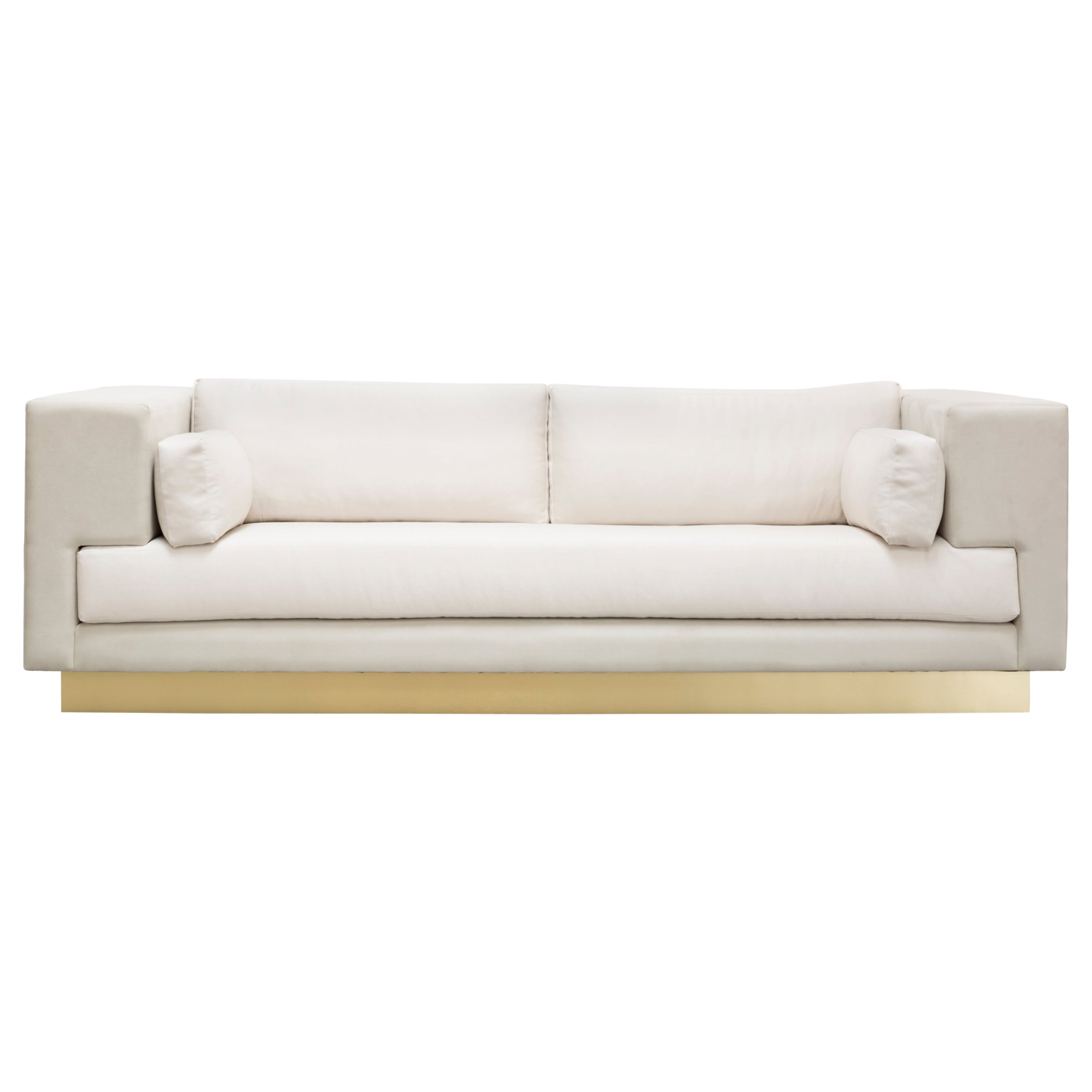 LACROIX SOFA - Modern Ultra Suede Sofa with Metal Base