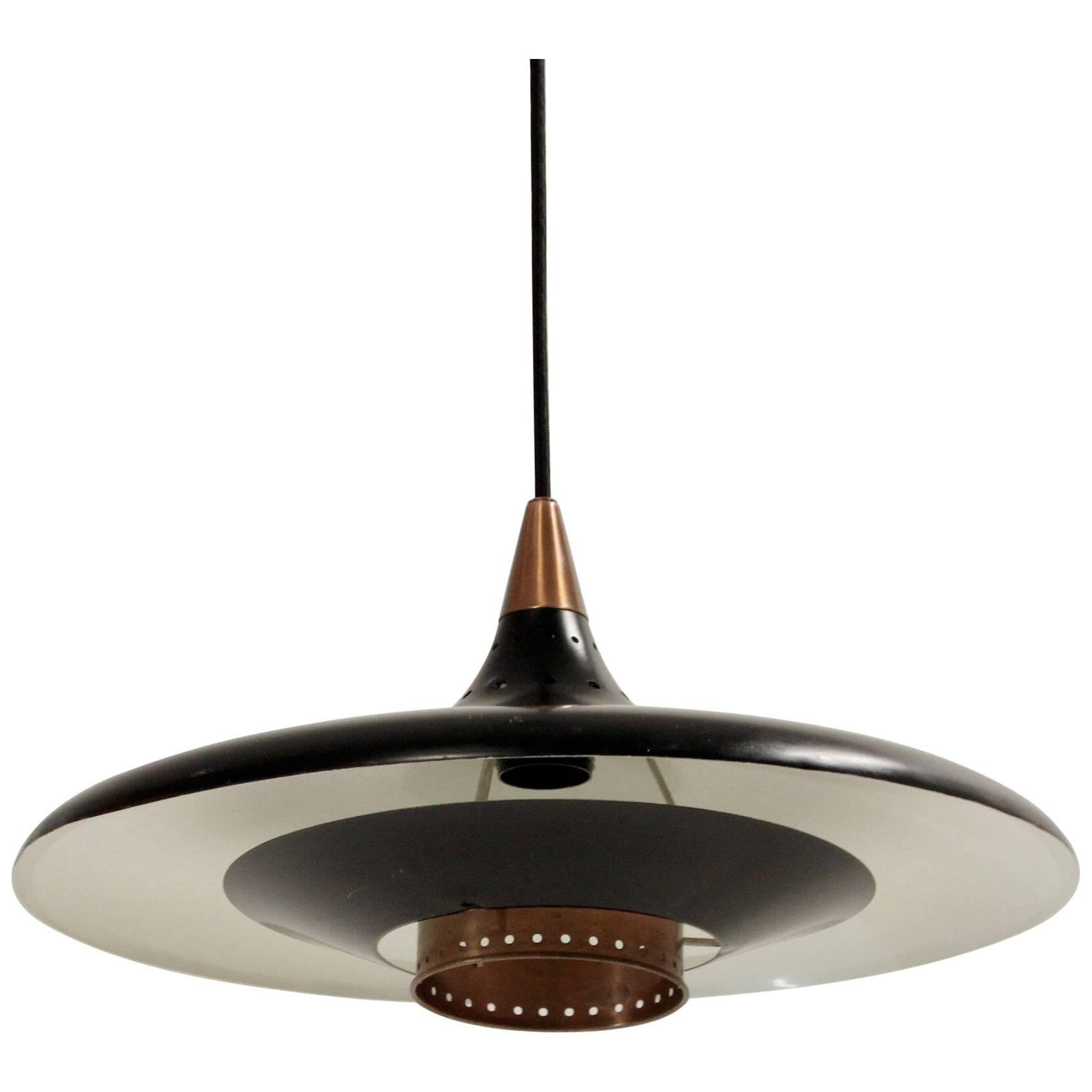 Scandinavian Midcentury Ceiling Light, 1960s
