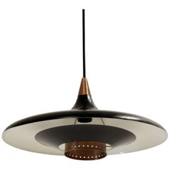 Scandinavian Midcentury Ceiling Light, 1960s