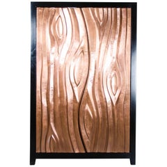 Da Tree Trunk Cabinet - Antique Copper by Robert Kuo, Limited Edition, in Stock