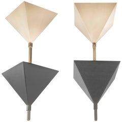Swiss Cubist Pendant Lights from Zurich, Switzerland, 1970s