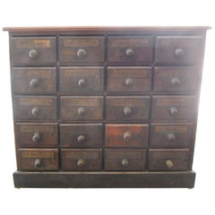 Small 20 Drawer Apothecary from a Pharmacy