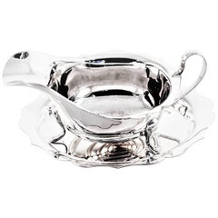English Gravy Boat and Plate