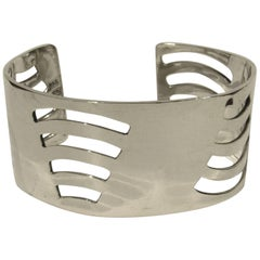 Mid-Century Modern Mexican Sterling Silver Cuff