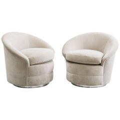 Pair of Kagan-Style Swivel Chairs