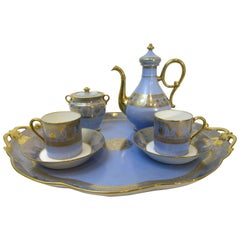 Sevres 1846 Chateau de St Cloud Demitasse Set
