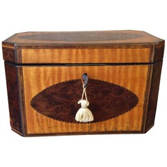 Octagon Shaped 19th Century Rea Caddy