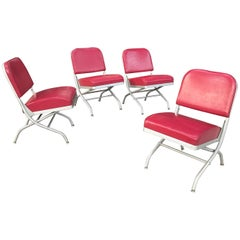 Warren McArthur Folding Aluminium and Vinyl Theater Chairs