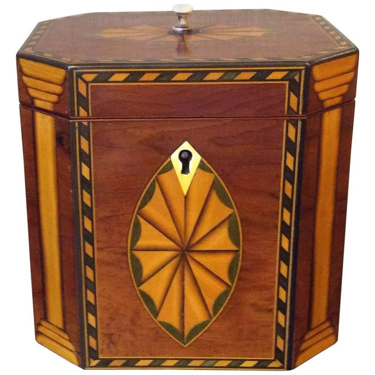 Single Georgian Style Tea Caddy For Sale