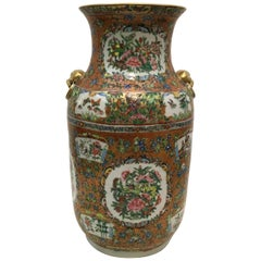 Hand-Painted China Porcelain Vase with Gilded Elements