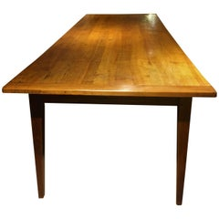 Long and Wide Antique Cherry Farmhouse Table