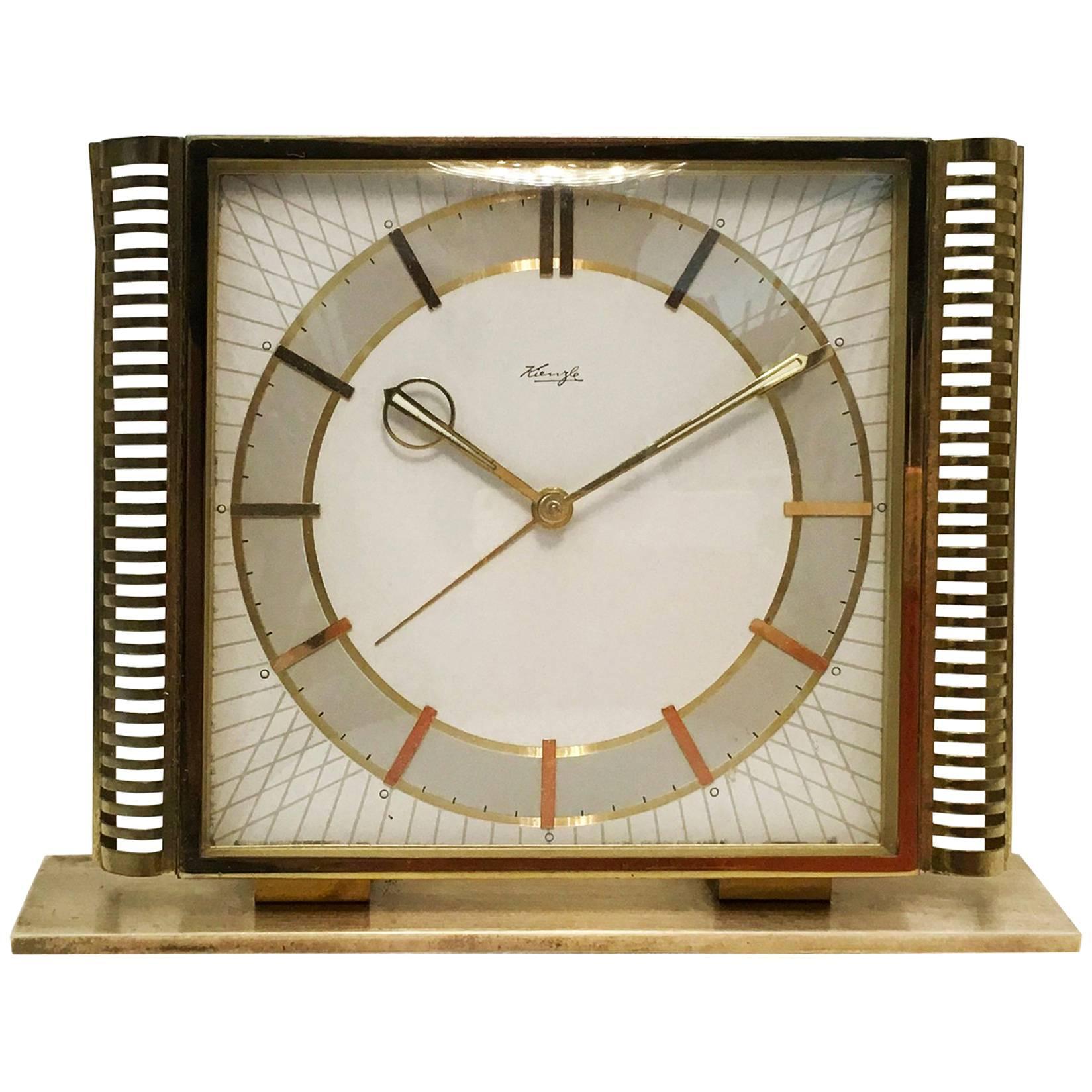 Midcentury Table Clock by Kienzle