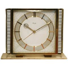 Midcentury Table Clock by Kienzle
