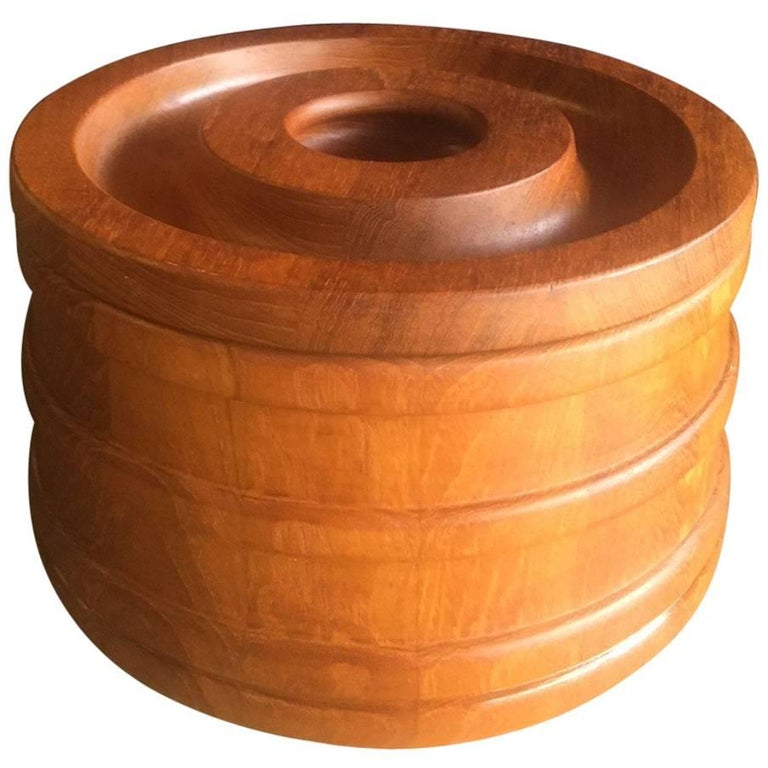 Danish Staved Teak Banded Ice Bucket by Jens Quistgaard for Dansk IHQ For Sale
