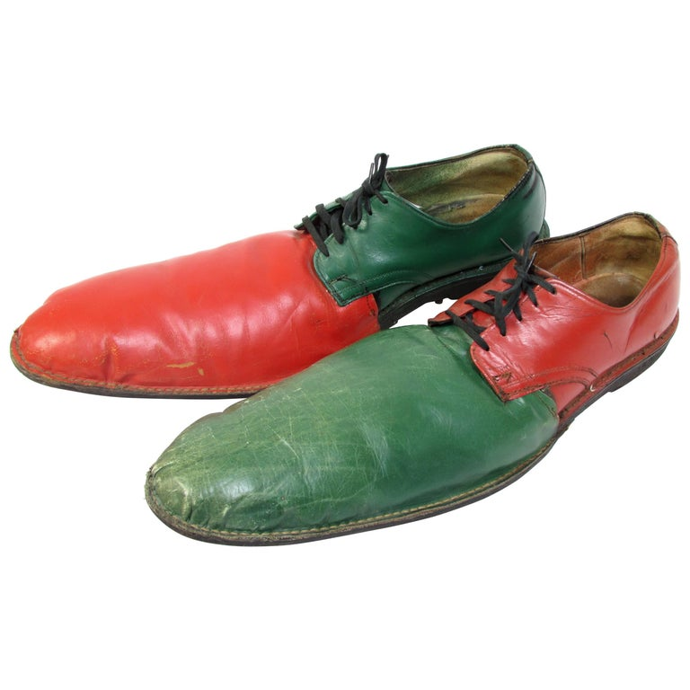 Vintage Orange and Green Clown Shoes