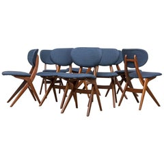 Set of Eight Hovman Olsen Style Dining Chairs for Webe