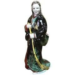 Japanese Kutani Figure of Uba '媼', Meiji Period