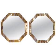 Pair of Large Octogonal Mirrors