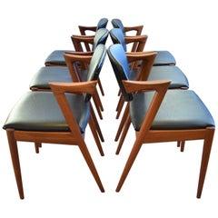 Midcentury Kai Kristiansen Model 42 Teak Dining Chairs