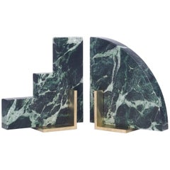 Odd Couple Bookends in Green Marble