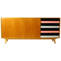 Midcentury Long Sideboard by Jiri Jiroutek for Interier Praha, circa 1960