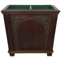 Late 19th Century Dutch Oak Umbrella Stand in Renaissance Style