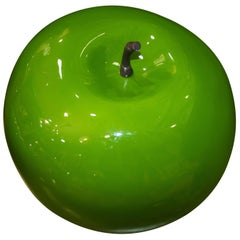 Danish Fiberglass Green Apple, Midcentury, circa 1960