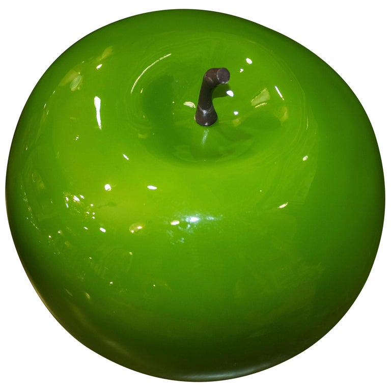 Midcentury green Fiberglass Danish Apples  Collection, 60s For Sale