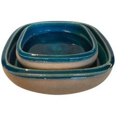 Nils Kähler Dishes/2 Glazed Stoneware, 1960s, Denmark
