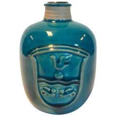 Nils Kähler Stoneware Vase, 1960s, Denmark