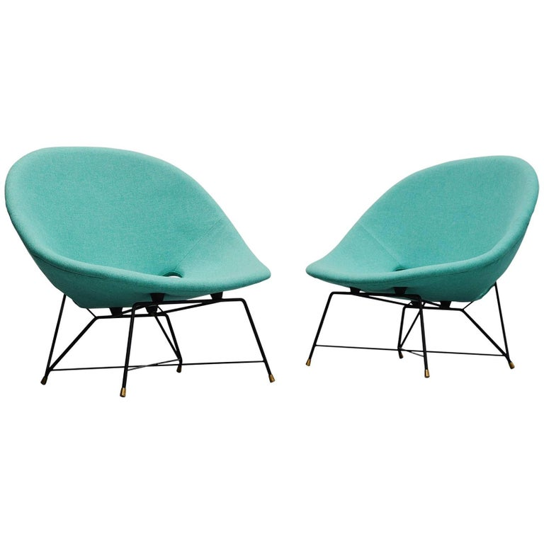 Augusto Bozzi Cosmos Lounge Chairs Saporiti Italia, 1954 For Sale