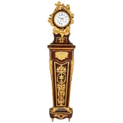 Mahogany and Gilt Bronze Rococo Pedestal Clock, after Riesener