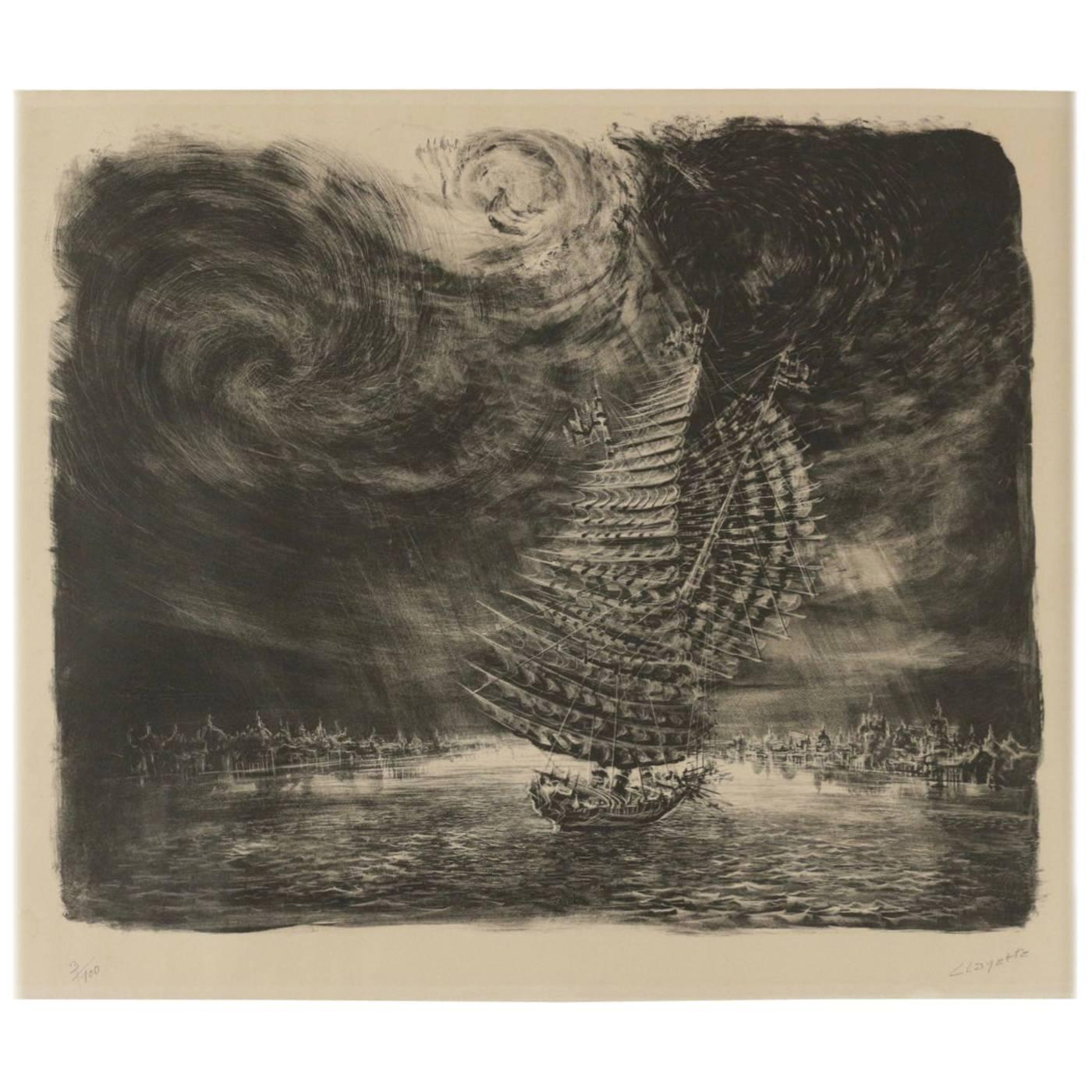 Original Lithograph by Clayette