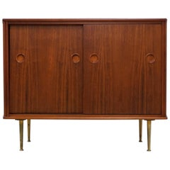 Small Walnut Cabinet by William Watting for Frishto, Early 1960s