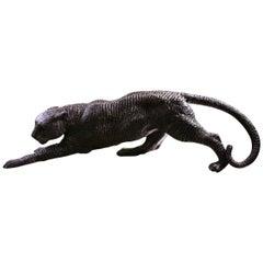 Black Bronze Panther Medium Sculpture