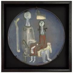 Jacques Innocenti, Framed Ceramic Dish