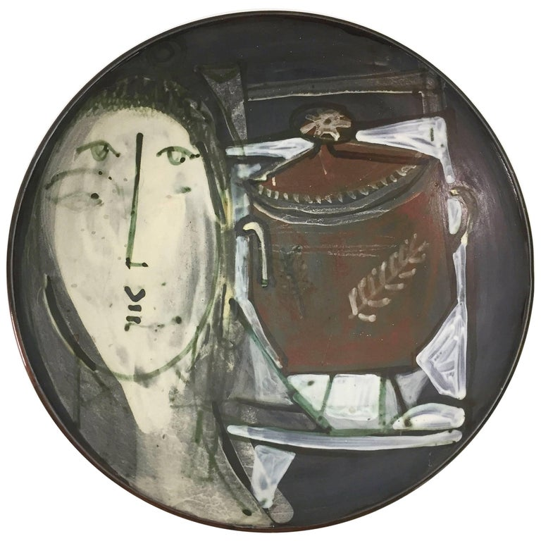 Jacques Innocenti, Large Decorative Ceramic Bowl For Sale